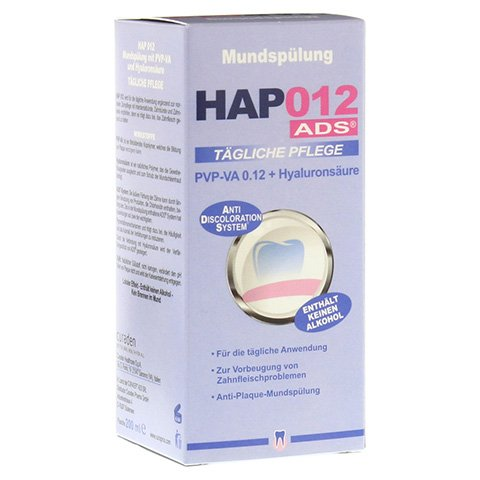 HAP012 PVP-VA 0,12+Hyaluronsäure Mundspülung 200 Milliliter