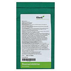 ROSMARINBLÄTTER Tee 250 Gramm - Rückseite