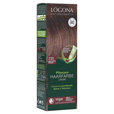 LOGONA Pflanzen Haarfarbe Creme 230 maronenbraun 150 Milliliter