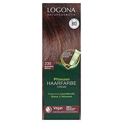 LOGONA Pflanzen Haarfarbe Creme 230 maronenbraun 150 Milliliter - Vorderseite