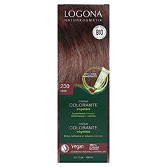LOGONA Pflanzen Haarfarbe Creme 230 maronenbraun 150 Milliliter - Rückseite