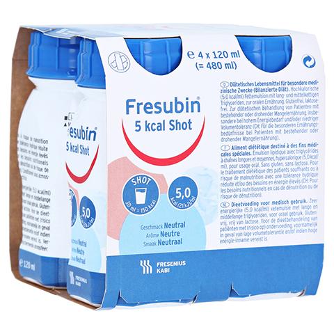 FRESUBIN 5 kcal SHOT Neutral Lösung 4x120 Milliliter