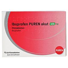 Ibuprofen PUREN akut 400mg 20 Stück - Vorderseite