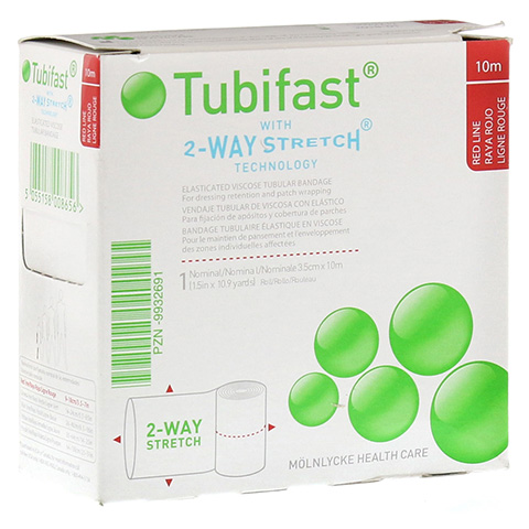 TUBIFAST 2-Way Stretch 3,5 cmx10 m rot 1 Stück