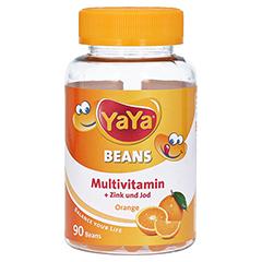 YAYA BEANS Orange Zink und Jod Kaudragees 90 Stück