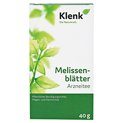 MELISSENBLÄTTER Tee Klenk 40 Gramm - Vorderseite