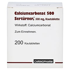 Calciumcarbonat 500 Sertürner 200 Stück - Vorderseite