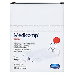MEDICOMP extra Kompressen 5x5 cm steril 25x2 Stück - Vorderseite