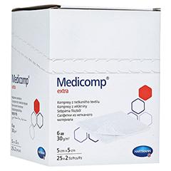 MEDICOMP extra Kompressen 5x5 cm steril 25x2 Stück