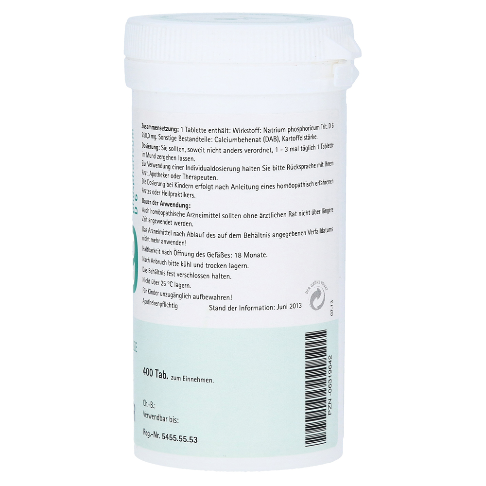 Biochemie Pflüger 9 Natrium Phosphoricum D 6 Tabl 400 Stück N3