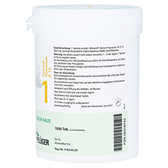 BIOCHEMIE Pflüger 1 Calcium fluoratum D 12 Tabl. 1000 Stück - Linke Seite