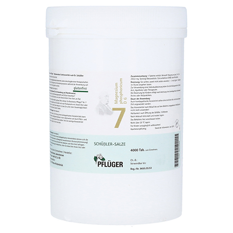 BIOCHEMIE Pflüger 7 Magnesium phosphoricum D 6 Tab 4000 Stück