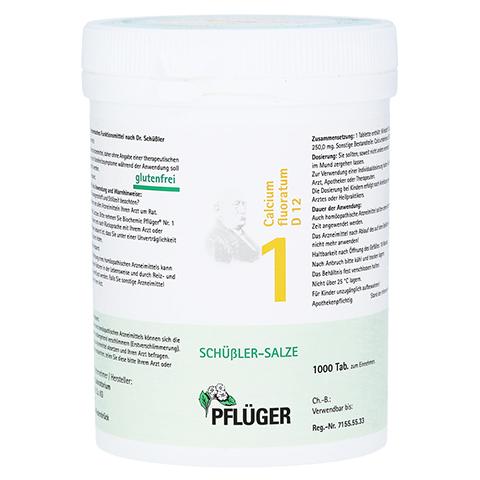 BIOCHEMIE Pflüger 1 Calcium fluoratum D 12 Tabl. 1000 Stück