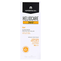 HELIOCARE 360° Gel SPF 50+ 50 Milliliter - Vorderseite