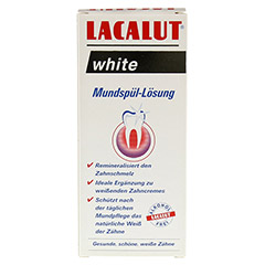 LACALUT white Mundspül-Lösung 300 Milliliter - Vorderseite