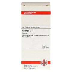 HARONGA D 4 Tabletten 200 Stück N2 - Vorderseite