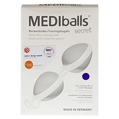 MEDIBALLS secret violett-weiß 1 Stück - Vorderseite