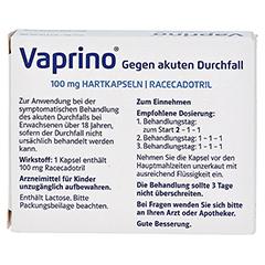 Vaprino 100mg Gegen akuten Durchfall 10 Stück - Rückseite
