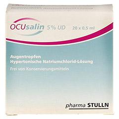 OCUSALIN 5% UD Augentropfen 20x0.5 Milliliter - Vorderseite