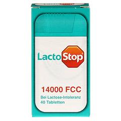 LACTOSTOP 14.000 FCC Tabletten Spender 40 Stück - Vorderseite