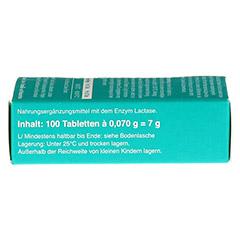 LACTOSTOP 3.300 FCC Tabletten Klickspender 100 Stück - Rechte Seite