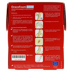 DRACOFOAM Infekt Schaumst.Wundauf.5x5 cm 10 Stück - Rückseite