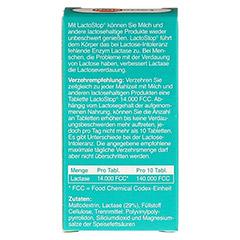 LACTOSTOP 14.000 FCC Tabletten Spender 40 Stück - Rückseite