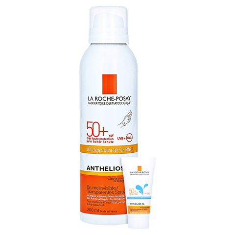 La Roche-Posay Anthelios Transparentes Spray XL LSF 50+ Körper Sonnenspray + gratis La Roche Posay Anth. W Gel LSF 50+ 15ml 200 Milliliter