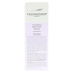FRÜHMESNER veganes Kräuter Ölbad Lavendel 100 Milliliter - Linke Seite