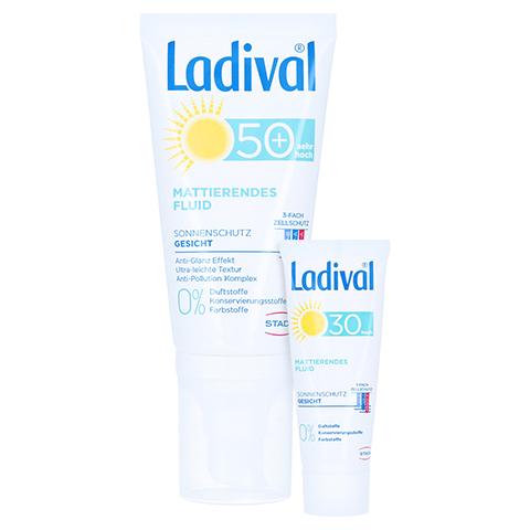 LADIVAL Sonnenschutz Gesicht Fluid matt.LSF 50+ + gratis Ladival mattierendes Fluid LSF 30 (5 ml) 50 Milliliter