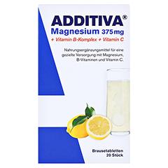 ADDITIVA Magnesium 375 mg+Vitamin B-Komplex+Vit.C 20x6 Gramm - Vorderseite