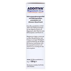 ADDITIVA Magnesium 375 mg+Vitamin B-Komplex+Vit.C 20x6 Gramm - Linke Seite