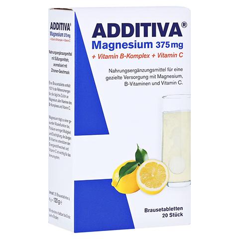 ADDITIVA Magnesium 375 mg+Vitamin B-Komplex+Vit.C 20x6 Gramm