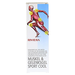 RIVIERA Muskel & Gelenksgel Sport Cool 75 Milliliter - Vorderseite
