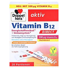DOPPELHERZ Vitamin B12 DIRECT Pellets 20 Stück - Vorderseite
