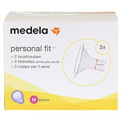 MEDELA Personal Fit Brusthaube Gr.M 2 St 1 Packung - Vorderseite