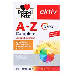 DOPPELHERZ A-Z Depot Tabletten 60 Stück - Vorderseite