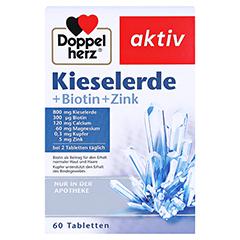 DOPPELHERZ Kieselerde+Biotin Tabletten 60 Stück - Vorderseite