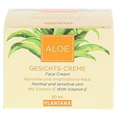 PLANTANA Aloe Vera Gesichts Creme 50 Milliliter - Vorderseite