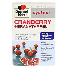 DOPPELHERZ Cranberry+Granatapfel system Kapseln 30 Stück - Vorderseite
