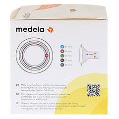 MEDELA Personal Fit Brusthaube Gr.M 2 St 1 Packung - Linke Seite