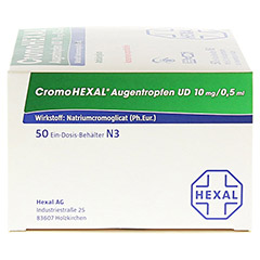 CromoHEXAL Augentropfen UD 50 Stück N3 - Linke Seite