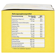 GELEE ROYALE ImmunAktiv 800 15 ml Trinkampullen 14 Stück - Linke Seite