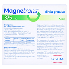 Magnetrans Direkt 375 mg Granulat 50 Stück - Rückseite