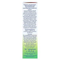 DOPPELHERZ Vegetarier Vitamine+Mineralstoffe Tabl. 30 Stück - Rechte Seite
