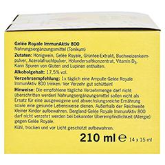 GELEE ROYALE ImmunAktiv 800 15 ml Trinkampullen 14 Stück - Rechte Seite