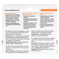 STRATADERM Narbentherapeutikum Gel 5 Gramm - Rückseite