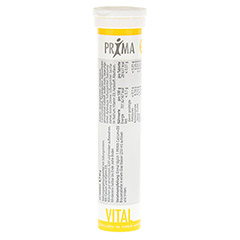 PRIMA VITAL Calcium Brausetabletten 20 Stück - Rückseite