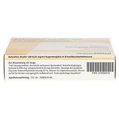 Ketotifen Stulln UD 0,25mg/ml Augentropfen 20x0.4 Milliliter N2 - Unterseite