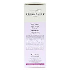 FRÜHMESNER veganes Kräuter Ölbad Lavendel 100 Milliliter - Rückseite